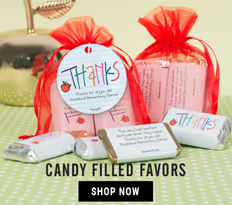 Shop Teacher Appreciation Candy Filled Favors
