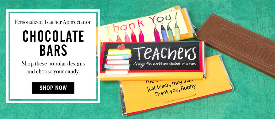 Shop Teacher Appreciation Chocolate Bars