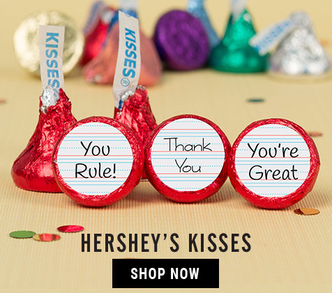 Shop Teacher Appreciation Personalized Kisses