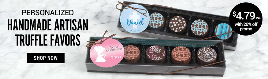 Shop Communion Personalized Truffle Favors