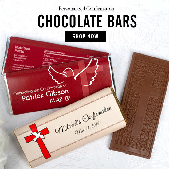 Shop Confirmation Personalized Chocolate Bars