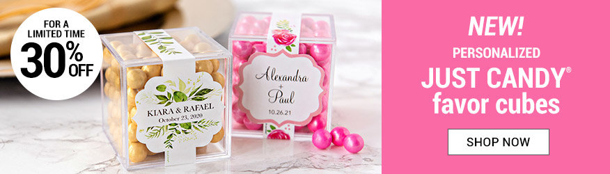 Shop 30% off Personalized Wedding Candy in a Cube
