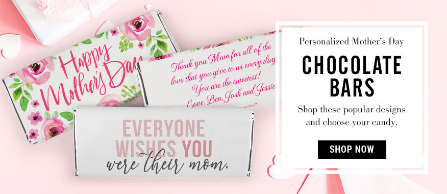 Personalized Mother's Day Chocolate Bars
