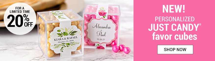 Shop Personalized Wedding Candy in a Cube