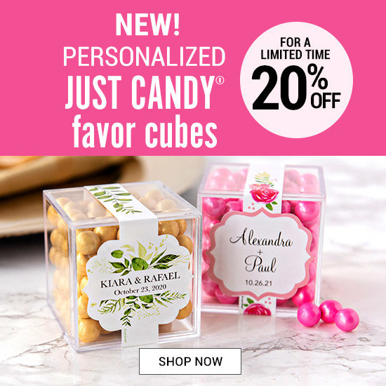 Shop Personalized Just Candy Favor cubes