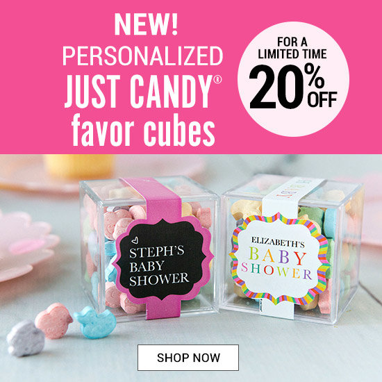 Shop JUST CANDY favor cubes