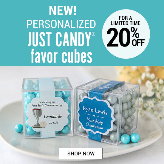 Shop Personalized Communion JUST CANDY® favor cubes