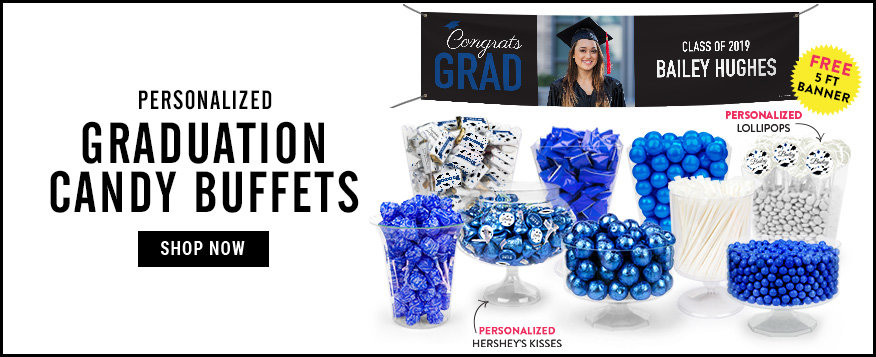 Personalized Graduation Candy Buffets