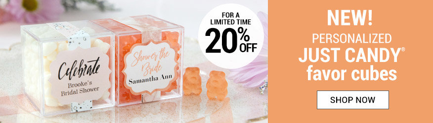 Shop our new sweet candy cube favors