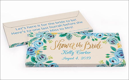 bridal shower chocolate bar in a gift box