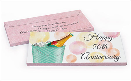 anniversary chocolate bars in a gift box