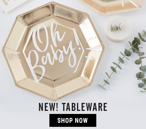 New Baby Shower Tableware