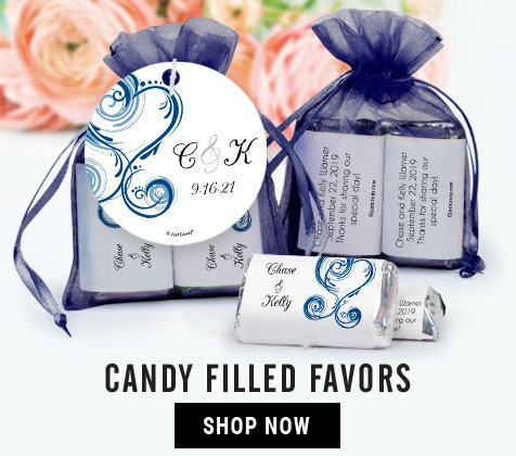 Personalized Wedding Reception Candy Favors