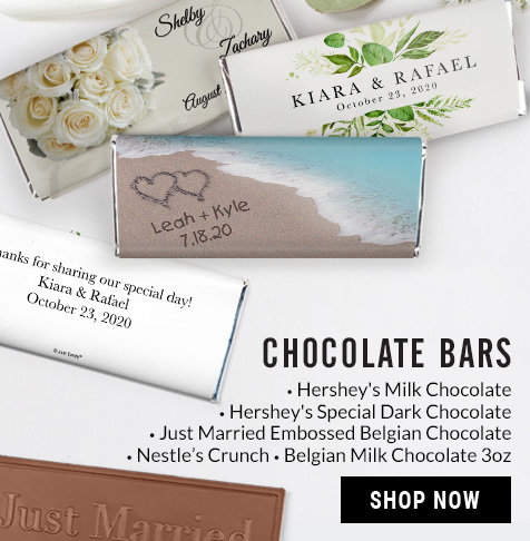 Chocolate Wedding Favors.Personalized Wedding Reception Candy Favors