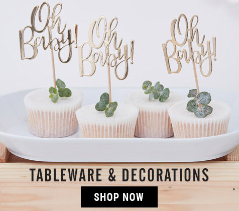 New Baby Shower Tableware & Decorations
