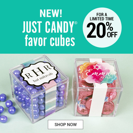 Bat Mitzvah JUST CANDY favor cubes
