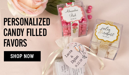 Shop Personalized Wedding Reception Candy Filled Favors
