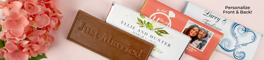 Shop Personalized Wedding Wrapped Chocolate Bars