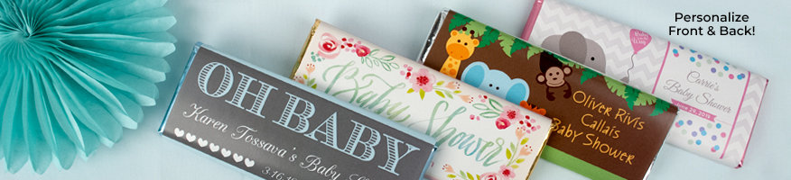 Shop Personalized Baby Wrapped Chocolate Bars