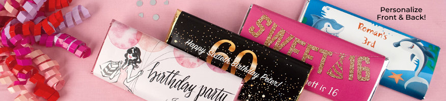 Shop Personalized Birthday Wrapped Chocolate Bars