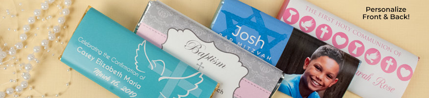 Shop Personalized Religious Wrapped Chocolate Bars