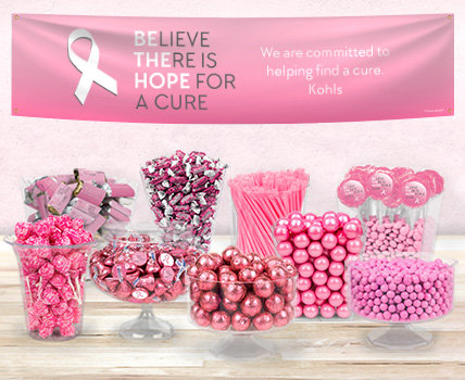 Shop Personalized Breast Cancer Candy Buffets