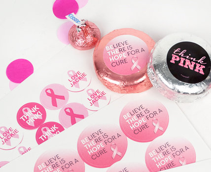 Shop DIY Personalized Breast Cancer Stickers