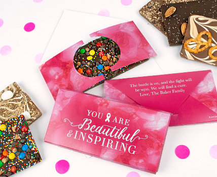 Shop Personalized Breast Cancer Gourmet Infused Candy Bars