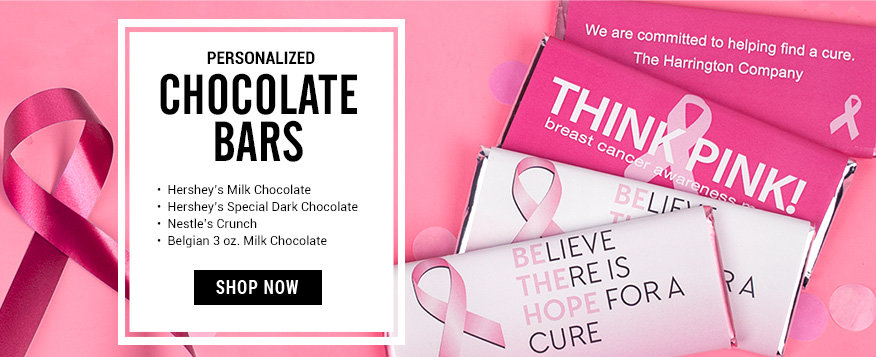 Shop Personalized Breast Cancer Awareness Chocolate Bars