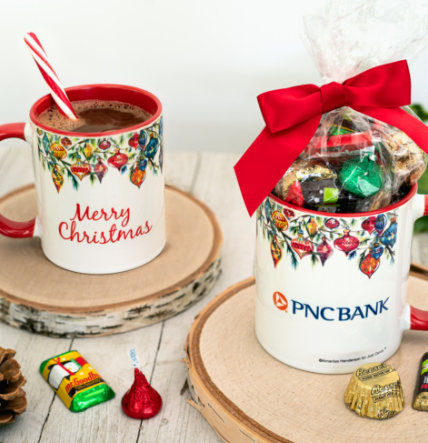 Candy Filled Holiday Mugs