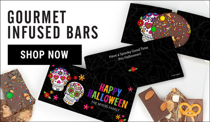Halloween Infused Chocolate Bars