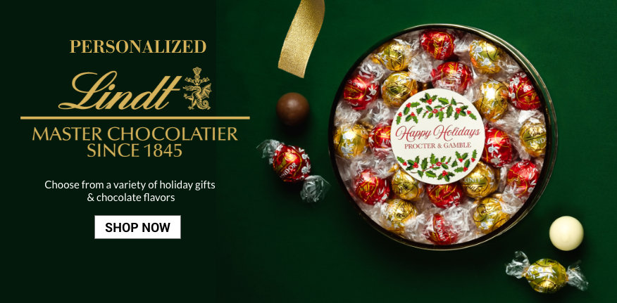 Announcing Lindt Premium PersonalizedChocolate Gifts