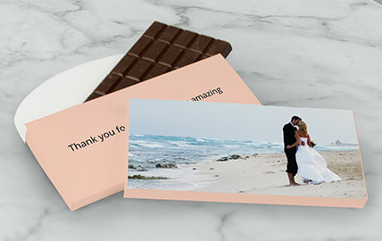 Personalized Wedding Reception 3 ounce Chocolate Bars