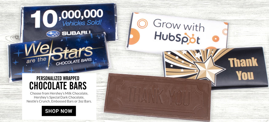 Personalized Business Wrapped Chocolate Bars