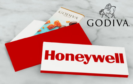 Personalized Business Godiva Chocolate Bars