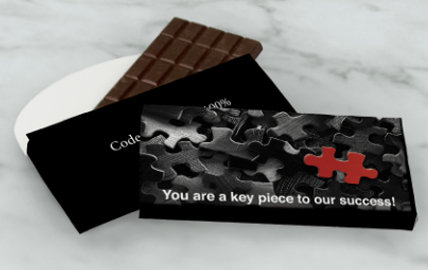 Personalized 3 ounce Business Chocolate Bars