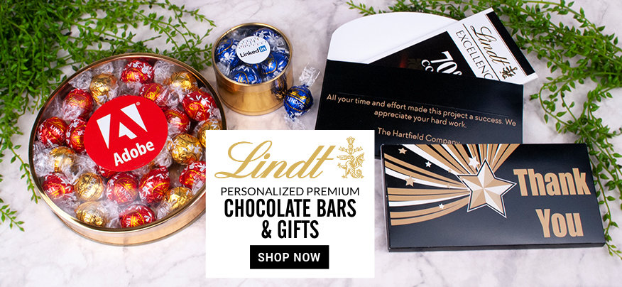 Personalized Lindt Chocolate Bars and Gifts