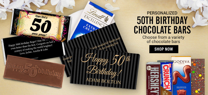 50th Birthday Chocolate Bars