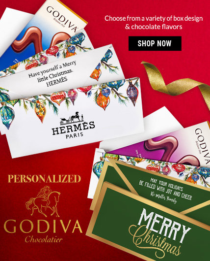 Personalized Godiva Chocolate Bars