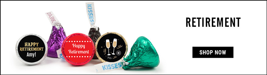 personalized retirement hershey's kisses