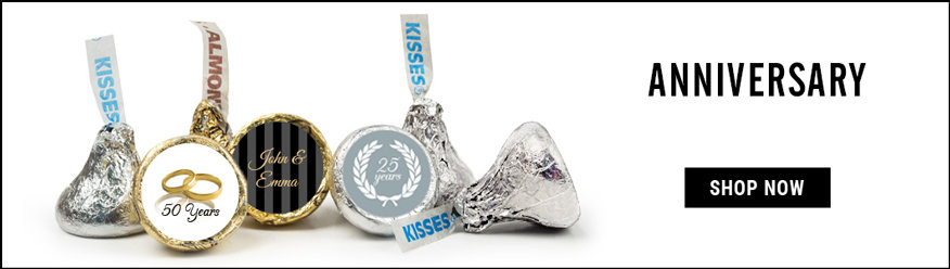 personalized Anniversary hershey's kisses