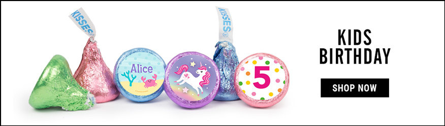 personalized kids birthday hershey's kisses