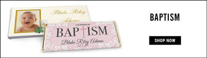 personalized baptism wrappers & boxes