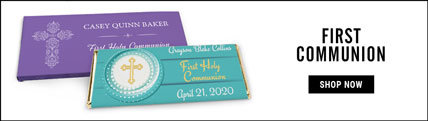 personalized first communion wrappers & boxes
