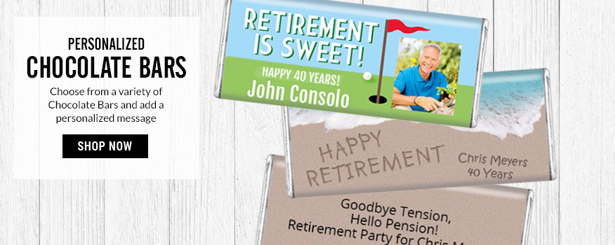Shop Retirement Chocolate Bars