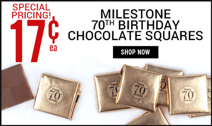 70th birthday chocolate squares