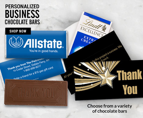 Business Personalized Chocolate Bars