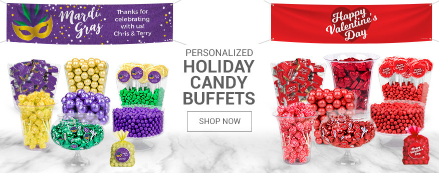 Personalized Holiday Candy Buffets