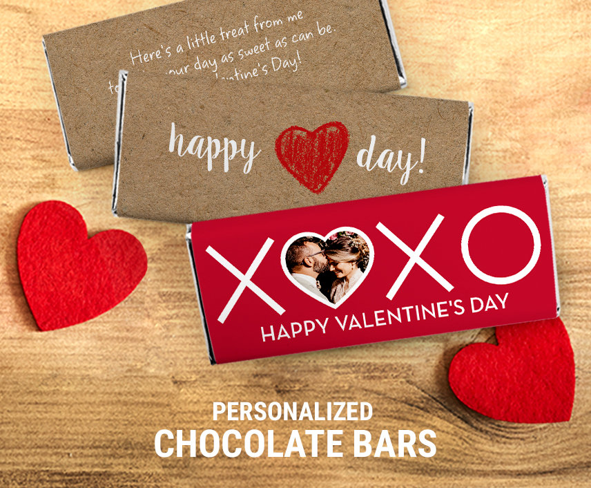 Valentine's Day Personalized Chocolate Bars