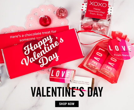 Shop Valentines Day Personalized Favors